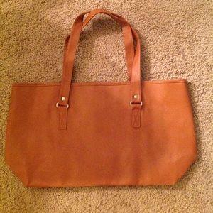 """Handbags - Large Camel Color Tote Handbag 19""""X11"""""""